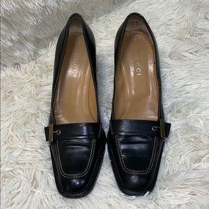 """Gucci Mocassino Pelle Guar Loafer Block 3.5"""" Heels"""